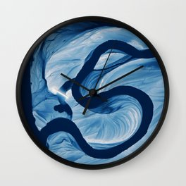 Mississippi Meander Blues 2 Wall Clock