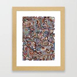 Rayas y rulos Framed Art Print