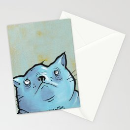 Sad Fat Cat Stationery Cards