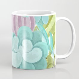 Tropical Cactus Pattern Coffee Mug