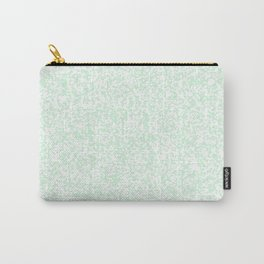 Tiny Spots - White and Pastel Green Carry-All Pouch