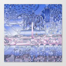 washington dc city skyline Canvas Print