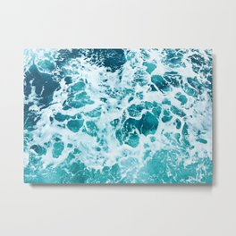 Ocean Splash IV Metal Print