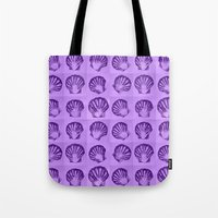 shells Tote Bags featuring Shells by Cathy Jacobs