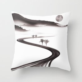 Snowland Throw Pillow
