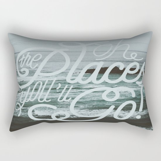 Oh the places you'll go! Rectangular Pillow