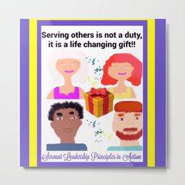 Servant Leadership Principles in Action Metal Print