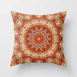 Hallucinogenic Maelstrom - Psychedelic Mandala Pattern Throw Pillow