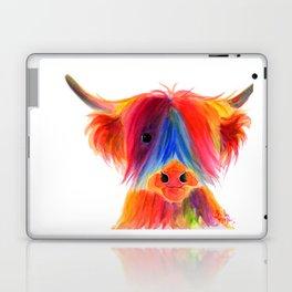 Scottish Highland Cow ' PANCAKE ' by Shirley MacArthur Laptop & iPad Skin