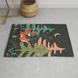 Evergreen Fox Tale Rug