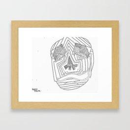 Mask #1: Eyes of Rain  Framed Art Print