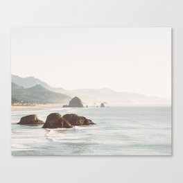 overlooking cannon beach Canvas Print