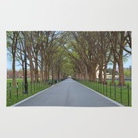the national Area & Throw Rugs featuring National Mall Promenade by Nicolas Raymond