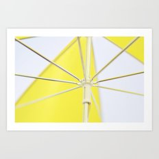 Yellow Umbrella Art Print