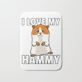 Hamster Pet Rodent Funny Role Bath Mat