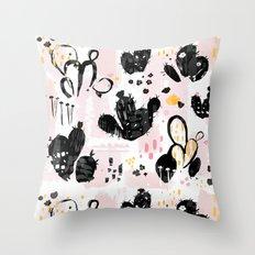 cactus sketchbook Throw Pillow
