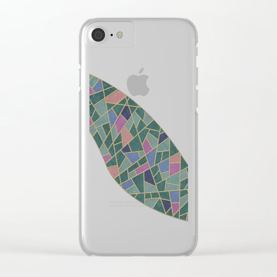 Geometric Marble 02 Clear iPhone Case