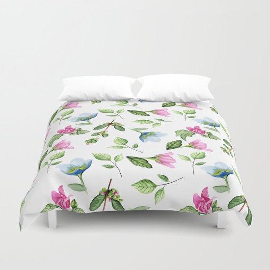 Floral pattern. Watercolor Duvet Cover