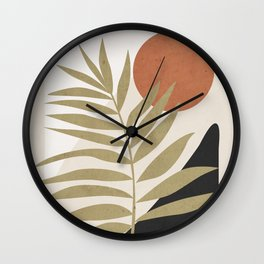 Tropical Leaf- Abstract Art 9 Wall Clock