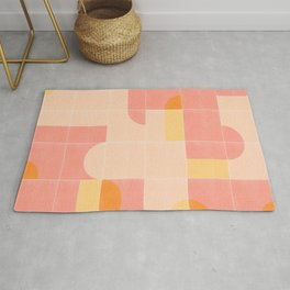 Retro Tiles 02 #society6 #pattern Rug