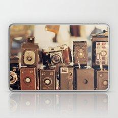 Old Cameras (Vintage and Retro Film Cameras Collection) Laptop & iPad Skin