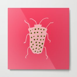 Arthropods hot pink Metal Print