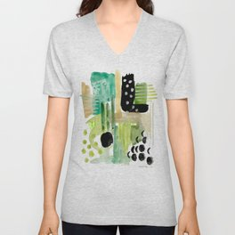 Garden Fern Abstract Unisex V-Neck