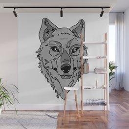 Moony-Eyed Wolf Wall Mural