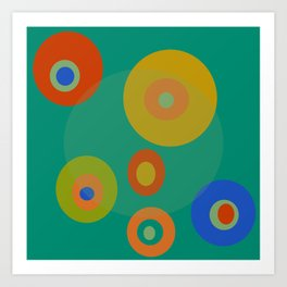 Colorul Geometric Circles Art Print