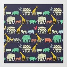 geo zoo Canvas Print