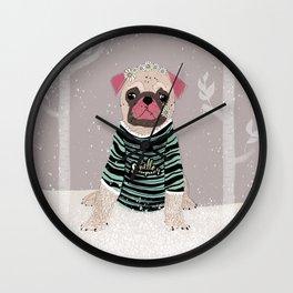 Mops. Wall Clock