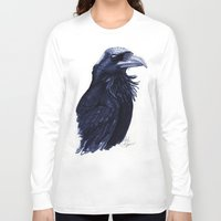 raven Long Sleeve T-shirts featuring .Raven by Isaiah K. Stephens