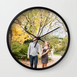 Fall walk in the park Wall Clock