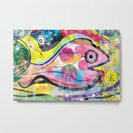 Fish Panting for a Drink with Hemingway in Havana Metal Print