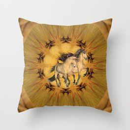 HORSES - The Buckskins Throw Pillow