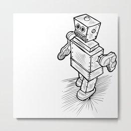 Little Timmy Robot Metal Print