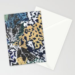 Leaves mimicricy in blue green Stationery Cards