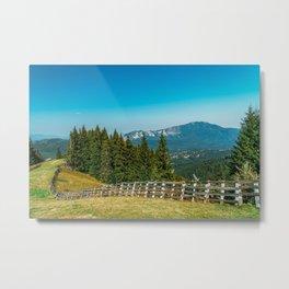Carpathian Mountains Landscape, Travel Summer Landscape, Transylvania Mountains, Forests Of Romania Metal Print