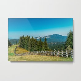 Carpathian Mountains Landscape, Travel Summer Landscape, Transylvania Mountains, Forests Of Romania Metal Print