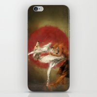 kitsune iPhone & iPod Skins featuring Kitsune Ballet by Badmiaou