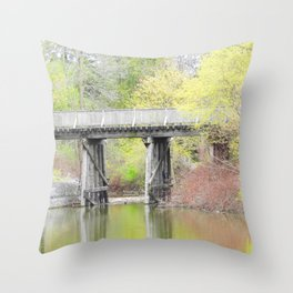 Soft Colours of Spring Reflected Throw Pillow