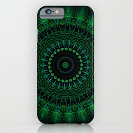 Emerald Green Mandala iPhone Case