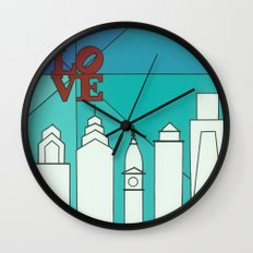LOVE shine Wall Clock