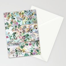 Pretty flowers on wood Stationery Cards