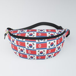 Mix of flag: South and North Korea Fanny Pack