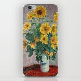 Claude Monet Bouquet Of Sunflowers 1881 iPhone Skin