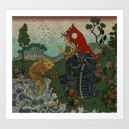 Haunt for Little Blind Fish Art Print