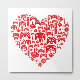 Gaming Love Metal Print