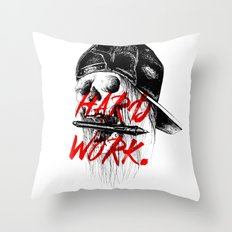 HARD WORK. Throw Pillow
