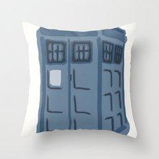 Abstract TARDIS Throw Pillow